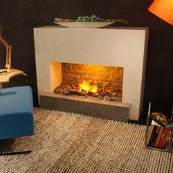 Santos Modern Fireplace - 130x47x100cm