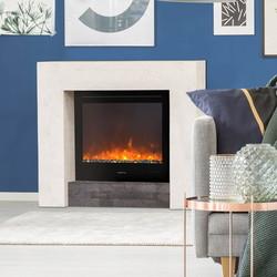 Milos Modern Fireplace - 99,5x34x97cm