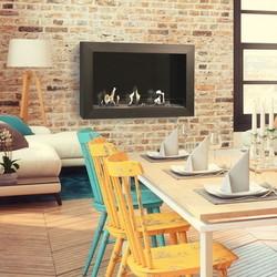 Atri Modern Fireplace - 60-64x95x40cm