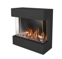 Castello 70 Wandhaard, 73cm breed, realistisch vuurbeeld, verwarming, 3-zijdig zicht