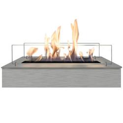 Brûleur bio-éthanol L - 8x57.5x20cm