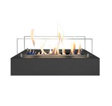 Brûleur bio-éthanol M - acier inoxydable noir - 8x40,5x20cm