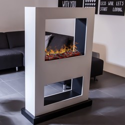 Lasize mobile fireplace - 136x98x36cm