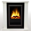 Glen Dimplex MOZART Optiflame Freestanding Electric Fireplace White with Heat Output