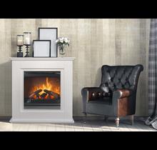 Dimplex Optiflame® Asti blanc cheminée électrique décorative avec chauffage
