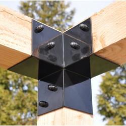 Pergola connecteur d'angle  115x115mm Garviks