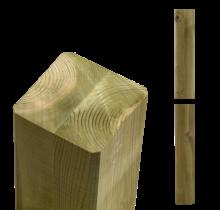 Houten paal 9x9cm - duplo verlijmd en geimpregneerd - max 500cm