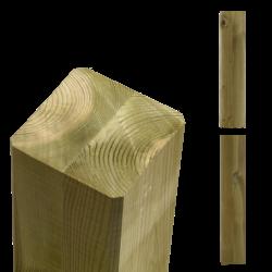 Houten paal 9x9cm - duplo verlijmd max 500cm