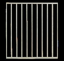 BASIC Steel balcony or garden fence with bars 90x98cm