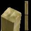 Plus Danemark Poteau en bois 9x9x250cm contrecollé et imprégné en autoclave
