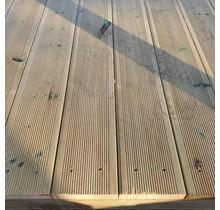 Vlonderplank - traptrede 32x145mm - geribbelt - geïmpregneerd grenen hout