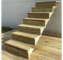 Escalier de jardin en kit prêt au montage - 7 marches H122cm