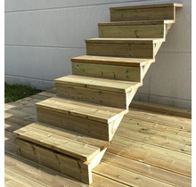 Gardens stairs kit ready to assemble - 7 steps H122cm
