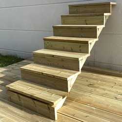 Gardens stairs kit 7 steps H122cm