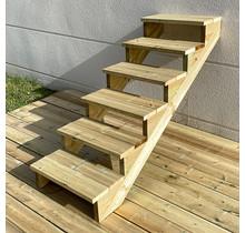Escalier de jardin en kit prêt au montage - 6 marches H105cm