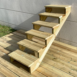 Gardens stairs kit 6 steps H105cm