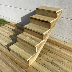Gardens stairs kit 5 steps H88cm