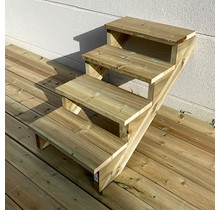 Gardens stairs kit ready to assemble - 4 steps H71cm