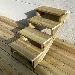Gardens stairs kit 4 steps H71cm