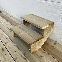 Deck stairs kit 2 steps H37cm