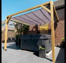Teflon waterproof retractable canopy 200x400cm
