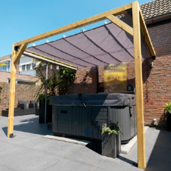 Waterproof retractable canopy 200x500cm