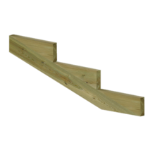 XL Staircase stringer 3 steps of pressure treated wood for garden stairs