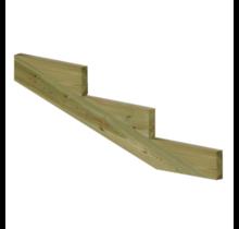 XL Trapbalk 3 treden van geïmpregneerd hout voor tuintrap