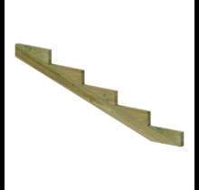 XL Trapbalk 5 treden van geïmpregneerd hout voor tuintrap