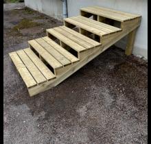 Escalier extérieur en kit - 5 marches, extra large H68cm