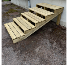 Gardens stairs kit ready to assemble -  5 steps XL H68cm