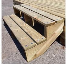 Buitentrap - Tuintrap bouwpakket - 2 treden H37cm