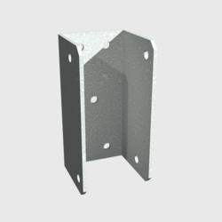 Steel mounting bracket for staircase stringer