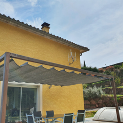 Pergola aan huis B 418x309cm hardhout