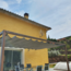 Vinuovo Lean to pergola B 388x388cm hardwood with retractable shade canopy