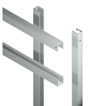 ARTURA Stalen frame set voor schutting HKC planken - boven- zij-en onder profielen