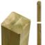 Houten paal - verlijmd - recht en rond uiteinde - 9x9x298cm - PLUS
