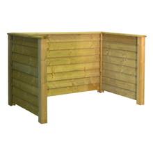 KLINK Cache poubelle en bois traité sous pression- 194x97x108cm - RETRAIT ENTREPOT!
