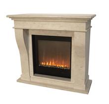 Manteau de cheminée, romantique et classique - 120x54x110cm