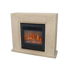 Nero Fireplace - black or white natural stone - 1015x1195x360mm