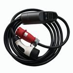Khons Point de charge portable type 2 avec fiche rouge CEE - 32A triphasée (5 mètre)