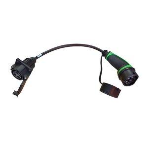Ratio Adaptateur Type 2 Voiture à Type 1 Câble Station attachée | 32A, 1Phase | 0,5m