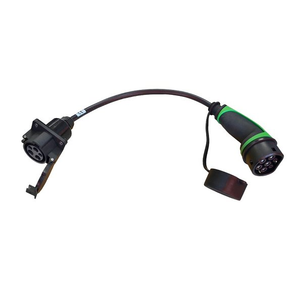 Adapter Typ 2 Auto auf Typ 1 Kabel Station  | 32A, 1Phase | 0,5m