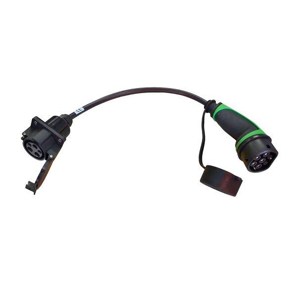 Ratio Adapter Type 2 auto naar Type 1 Kabel aangesloten aan laadpunt | 32A, 1Phase | 0,5m