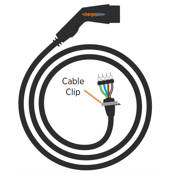 Type 2 replacement charging cable for ChargePoint charging stations 32A, 1 phase | 6m-8m