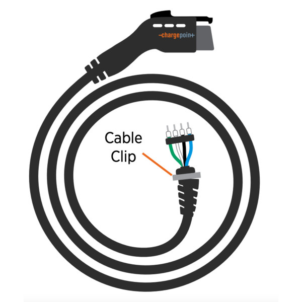 Type 1 replacement charging cable for ChargePoint charging stations 32A, 1 phase   6m-8m