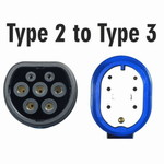Scame Type 2 Car to Type 3 Charging Cable | 32A, 3 Phase
