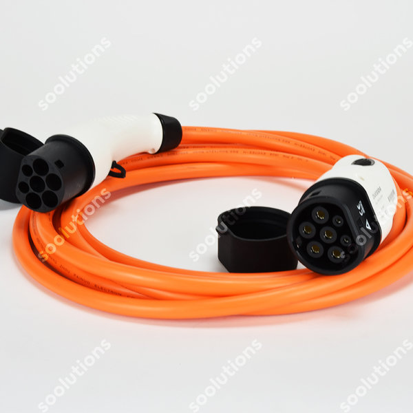 DUOSIDA Type 2 (female) to Type 2 (male) Charging Cable | 16A, 1 Phase | 6m