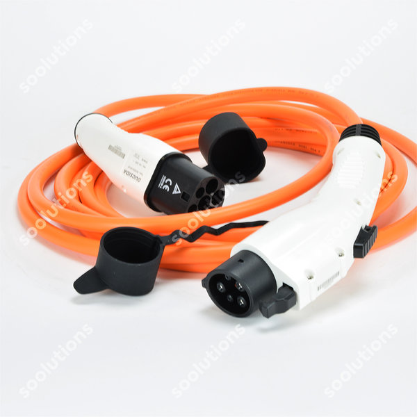 DUOSIDA Type 1 (female) to Type 2 (male) Charging Cable | 16A, 1 Phase | 6m