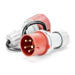 Soolutions CEE red 32A (male) to CEE red 16A (female)
